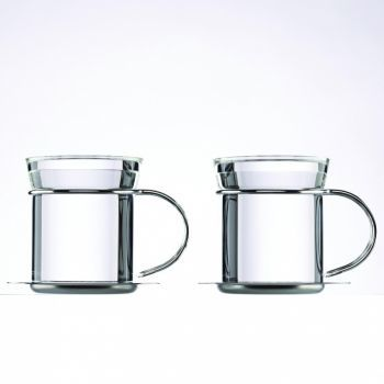mono Filio Tea Mugs, Set of 2 with Saucer