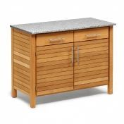 Weishäupl: Design special - Teak garden furniture - Deck Outdoorkitchen Double Board