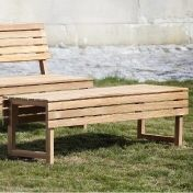 Jan Kurtz: Design special - Teak garden furniture - Tennis Garden Bench
