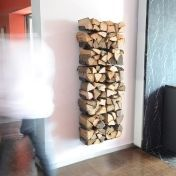 Radius: Categories - Accessories - Wooden Tree Firewood Shelf