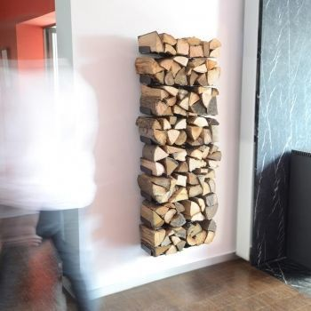 Wooden Tree Firewood Shelf