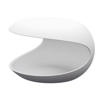 White Shell Side Table