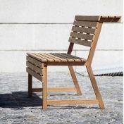 Jan Kurtz: Design special - Teak garden furniture - Tennis Garden Bench with backrest