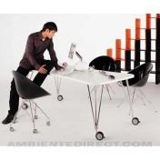 Kartell: Categories - Furniture - Max Table 190 with wheels