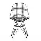 Vitra: Rubriques - Mobilier - Eames Wire Chair DKR basic dark - Chaise