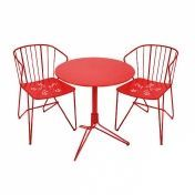 Fermob: Design Special - Fermob Sets - 2 Flower Chaises + 1 Flower Table de Jardin