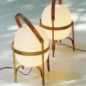AmbienteDirect.com: Outlet - 2ème choix - Luminaires de table avec légère imperfection - Cesta Table Lamp - cherry wood