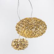 Kartell: Brands - Kartell - Bloom Metallic Ball Suspension Lamp