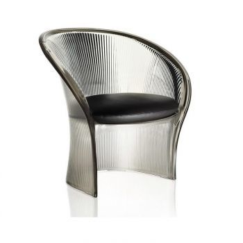 Flower Chair transparent smoke grey