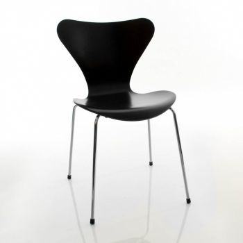 S&eacute;rie 7 - Chaise laqu&eacute;e satin&eacute;e 46,5cm