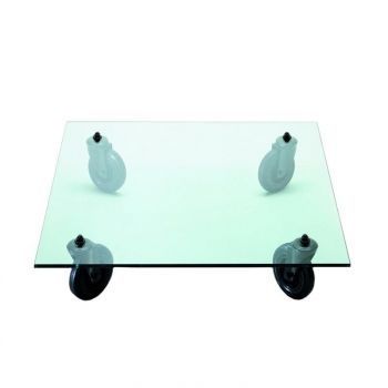 Tavolo Con Ruote Coffee Table on Rubber Wheel