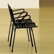 Lehni: Categories - Furniture - Elox Chair with armrest