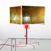 Ingo Maurer: Brands - Ingo Maurer - 24 Karat Blau T Table Lamp