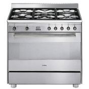 Smeg: Collections - Smeg Standing gas cooker - SCD91MFX5 Combination Cooker 90 cm
