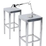 EMECO: Categories - Furniture - Set Emeco Barstools + Tolomeo Micro Chrome