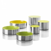 Stelton: Categories - Accessories - Dot bowls yellow/green