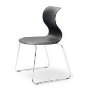 Flötotto: Categories - Furniture - Pro 6 Chair with skids Frame chrome