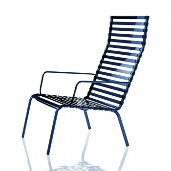 Striped Poltroncina Armchair (High Backrest)