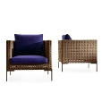 B&amp;B Italia: Design special - Rattan garden furniture - Charles Outdoor Armchair