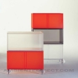 Kartell: Categories - Furniture - One Container with doors and wheels