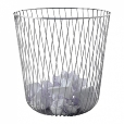 Alessi: Categories - Accessories - A Tempo Wire Paper Basket