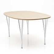 Fritz Hansen: Categories - Furniture - B614 Super-Elliptic Table 240cm