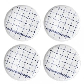 Mormor Blue - Set de 4 Assiettes