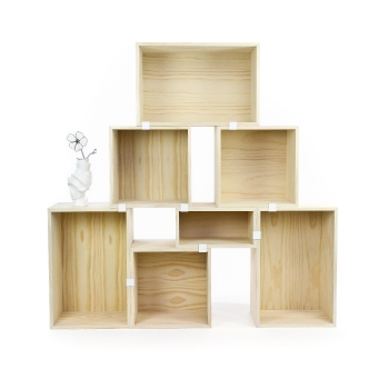 Stacked Shelf System Pine Special Offer Set