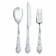 Alessi: Categories - Accessories - Asta Barocca Set of Cutlery