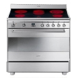 Smeg: Rubriques - High-Tech - SCD91CMX5 - Cuisini&egrave;re &eacute;lectrique 90cm