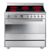 Smeg: Categories - High-Tech - SCD91CMX5 Electronic Cooker 90 cm