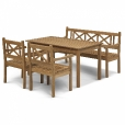 Skagerak: Design Special - Meubles de jardin en teak - Skagen - Outdoor ensemble de 4 pi&egrave;ces