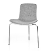 Fritz Hansen: Categories - Furniture - PK8 Chair With Seat Cushioning 43cm