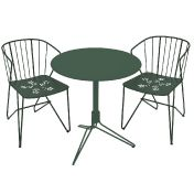 Fermob: Marques - Fermob - 2 Flower Chaises + 1 Flower Table de Jardin