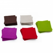 Hey-Sign: Categories - Accessories - Hey Sign Set of Glass Coasters Square
