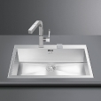 Smeg: Categories - High-Tech - VQ72RS-2 Inset Sink