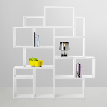 Stacked Shelf-System White