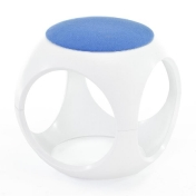 AmbienteDirect.com: Outlet - B stock - Chairs with minor flaws - Oblio Cube white/light blue Divina 712