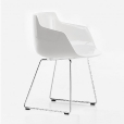 MDF Italia: Categories - Furniture - Flow Armchair with skid legs glossy
