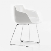 MDF Italia: Brands - MDF Italia - Flow Armchair with skid legs glossy