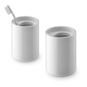 Authentics: Designers - Edward Barber - Lunar Toothbrush Mug 2-piece Set