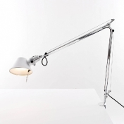 Artemide: Categories - Lighting - Tolomeo Tavolo with table clamp