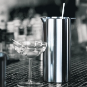 Stelton: Brands - Stelton - Cylinda Line Martini Mixer with mixer spoon