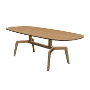 Alias: Categories - Furniture - Stabiles Oval Table 100x235