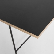 AmbienteDirect.com: Outlet - 2a clase - Mesas con pequeños defectos - Eiermann 1 Table Top black linoleum oak edge