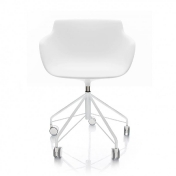 MDF Italia: Brands - MDF Italia - Flow Swivel Armchair with Star Base & wheels