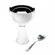 Alessi: Categories - Accessories - Big Love Ice Cream Bowl with Spoon