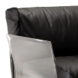 Kartell: Categories - Furniture - Pop Leather Three Seater