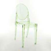 AmbienteDirect.com: Outlet - B stock - Chairs with minor flaws - Victoria Ghost Chair / green