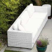 Jan Kurtz: Design Special - Meubles de jardin en rotin - Mercy Canapé 3 places Outdoor